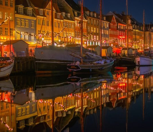 denmark by night