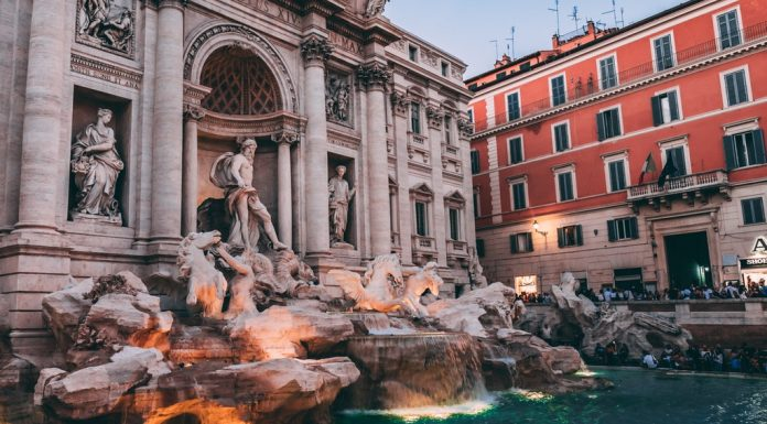 the trevi fountain rome